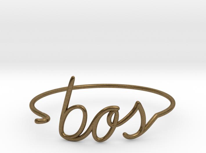 BOS Wire Bracelet (Boston) 3d printed