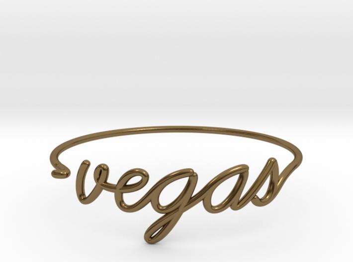 VEGAS Wire Bracelet (Las Vegas) 3d printed