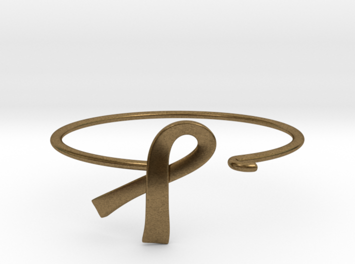 Ribbon Wire Bracelet 3d printed