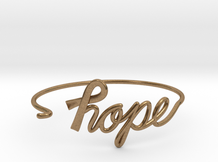 Ribbon of Hope Bracelet 3d printed