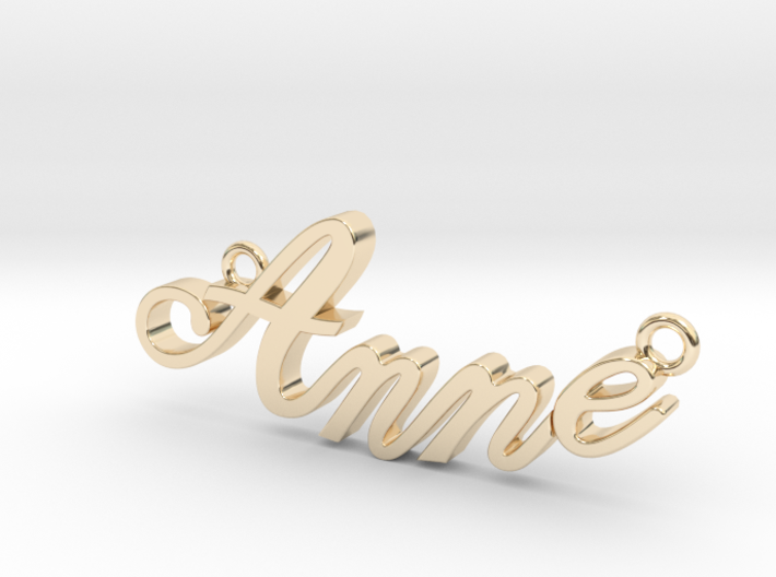 Anne Name Plate 3d printed