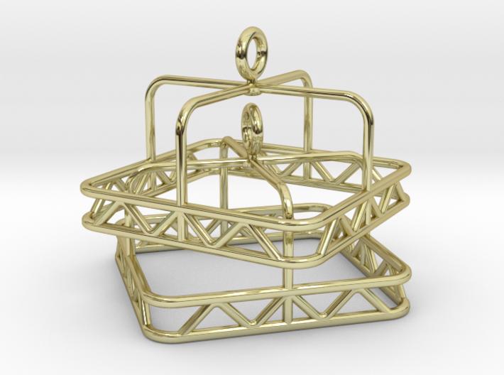 Skeleton square Jhumka - Indian Bell Earrings 3d printed