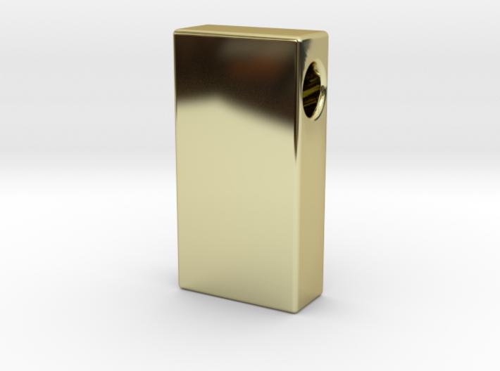 Gold Brick Pendant 3d printed
