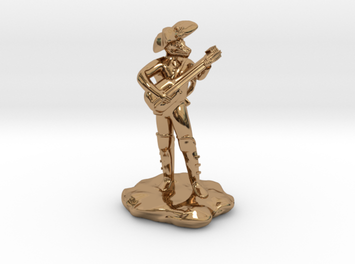 Dragonborn Pirate Bard with Lute and Crossbow 3d printed