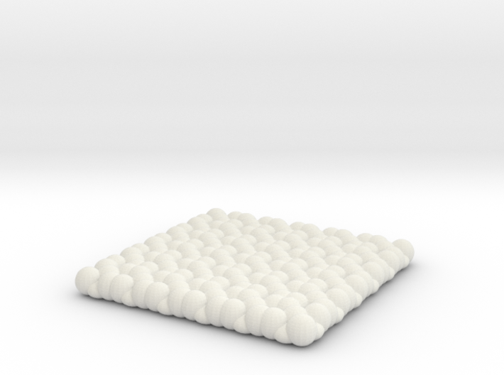Pebble Coaster - Checkered Pattern 1 (Small Size) 3d printed