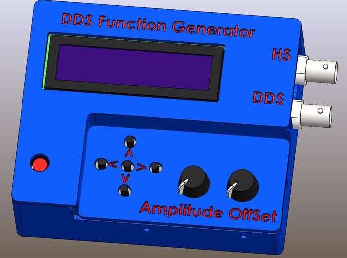 Case for DDS Function Generator 3d printed CAD Render for DDS Function Generator Case