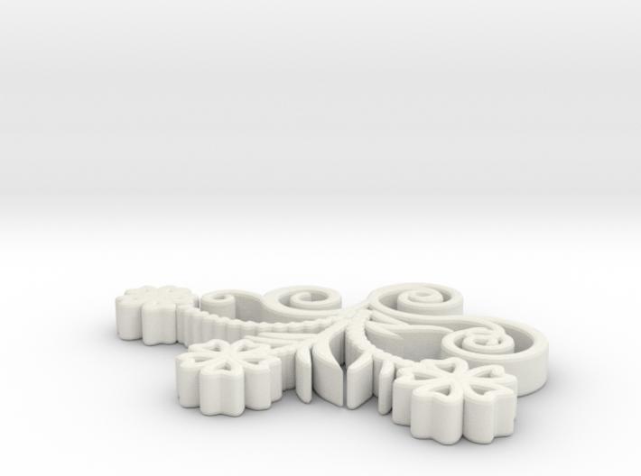 Pendant Flower 10 3d printed