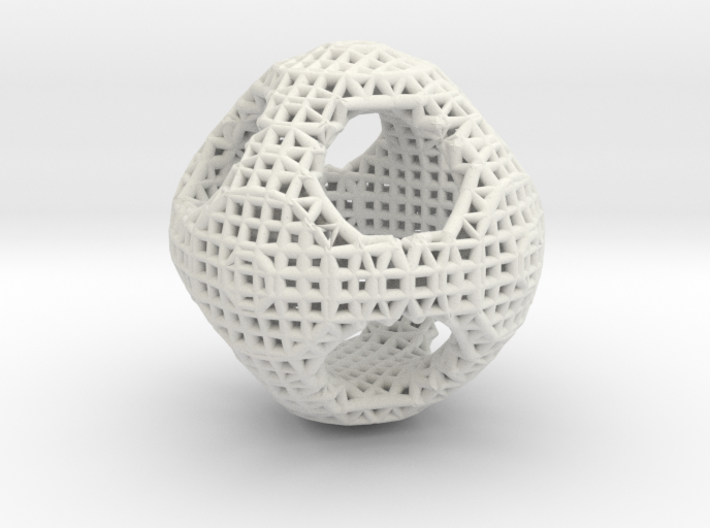 Orthocircle math art 3d printed