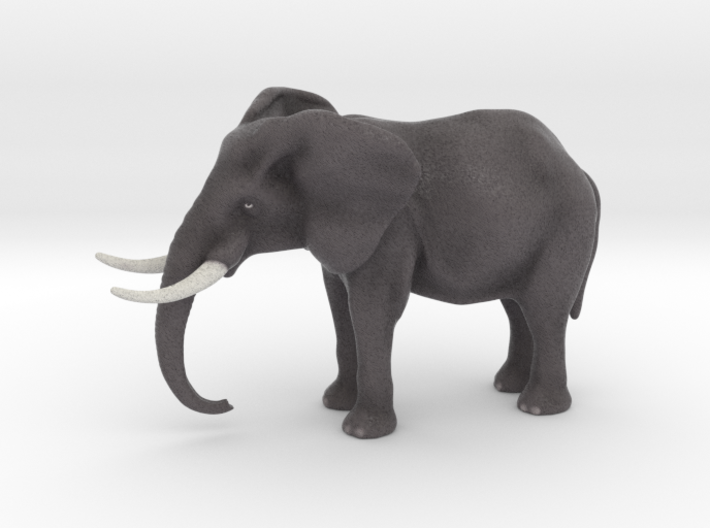 Elephant 4 inch height full color 3d printed