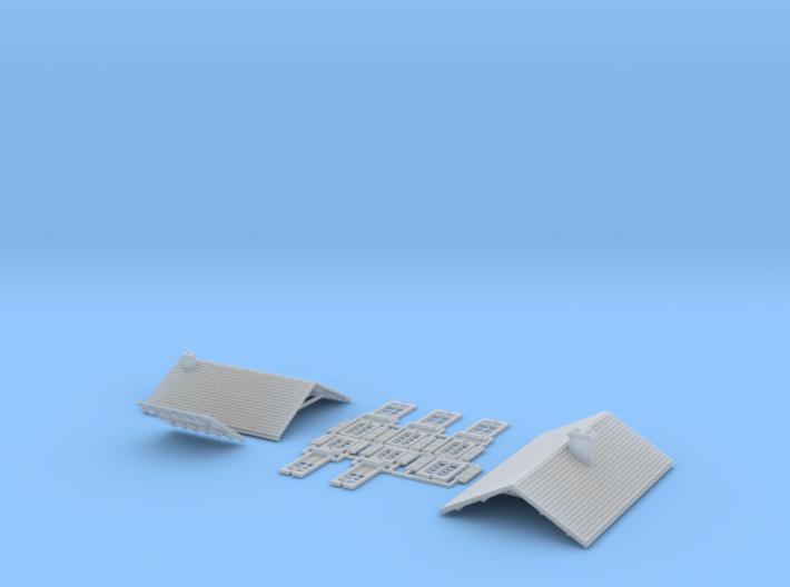 Po Corezze - Roof - Nm - 1:160 3d printed