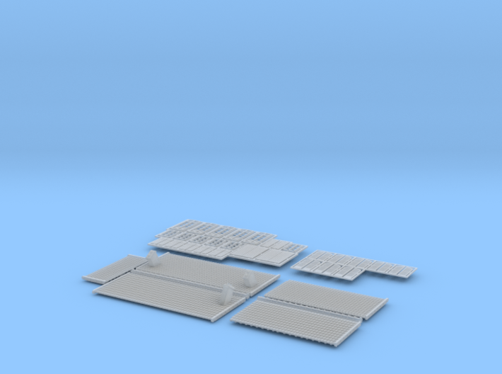 Gare CfD - Roof + Details ( Nm Gauge ) 3d printed