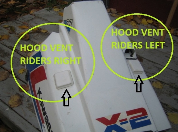 Hood Vent Riders Right 3d printed