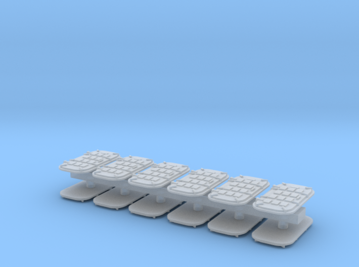 1:72 Navy water tight doors, armored - 12 doors 3d printed