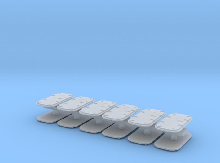 1:96 Navy Doors in set of 12 3d printed