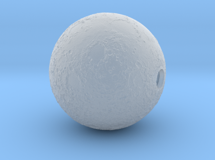Moon diameter 12mm - with 2x 2mm holes 3d printed