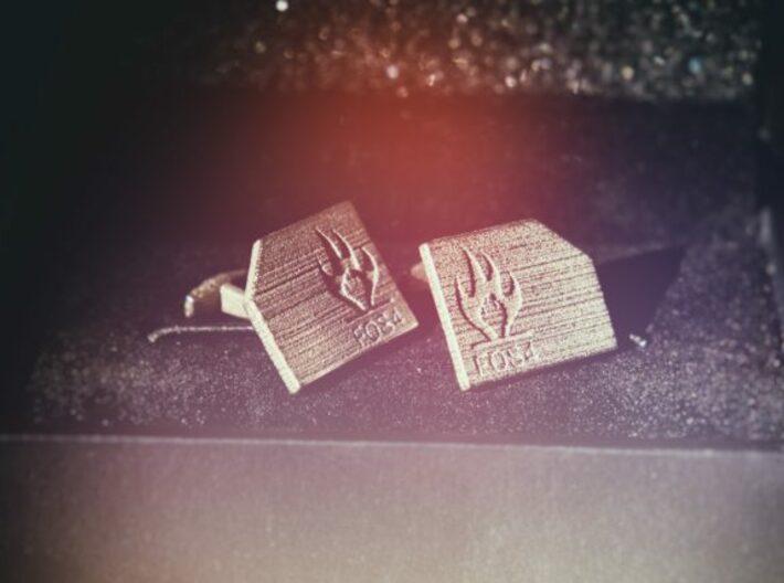 FOS4 Cufflinks 3d printed