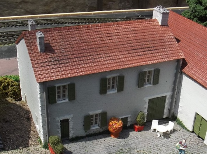 French Farmhouse Front (WSF) N 1:160 3d printed