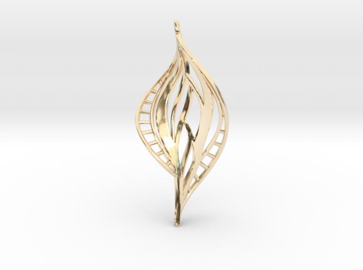 DNA Leaf Spiral (right) 3d printed