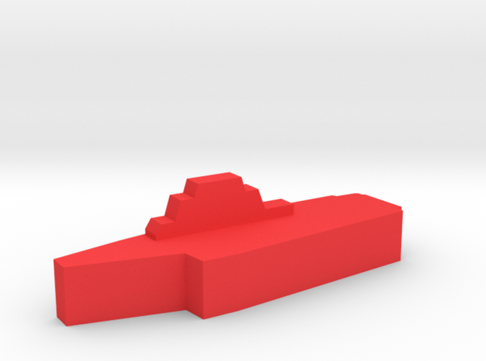 Game Piece, Red Force Kiev Carrier 3d printed