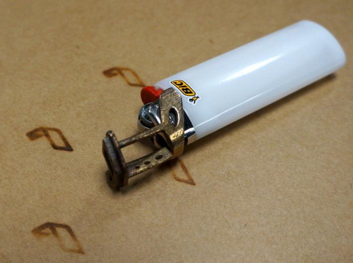 reddit - Branding Iron for BIC lighter 3d printed Previously printed branding iron (different logo)