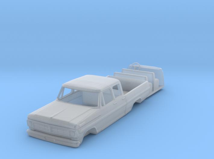 1/64 1967 Ford Crew Cab pickup 3d printed