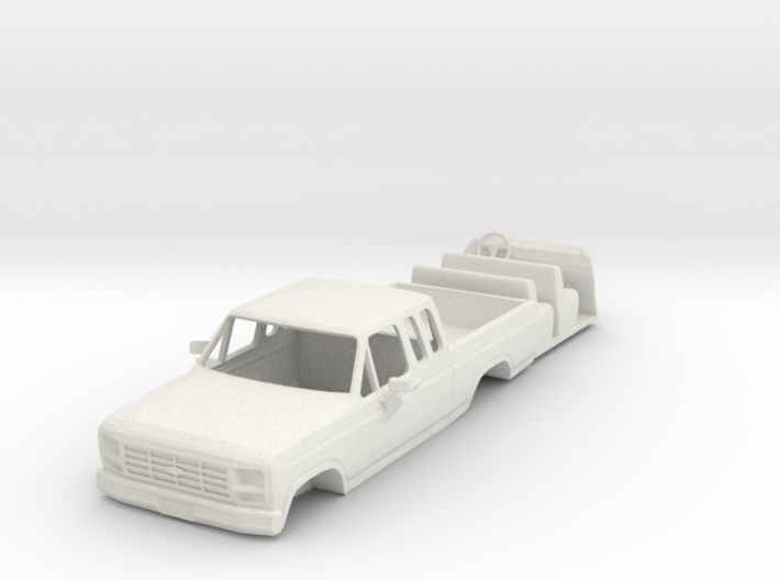 1980's Ford Super Cab pickup body 3d printed