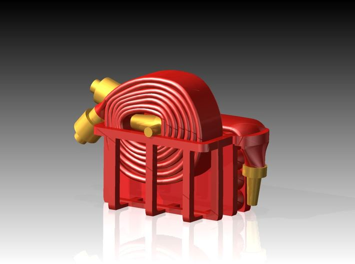 Fire Hose - Flaked & Rolled x 6 1/72 3d printed