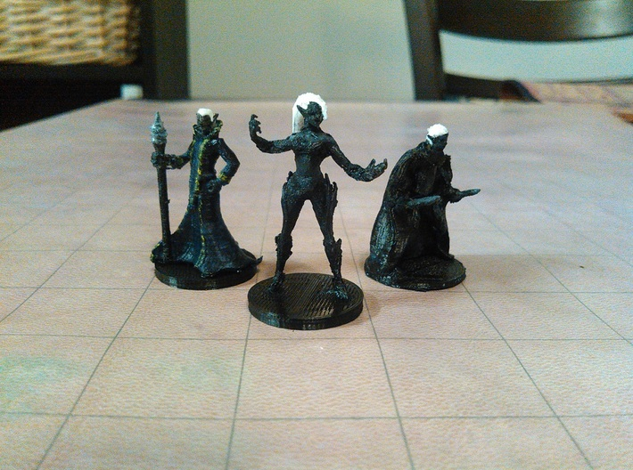 Drow Wizard 3d printed