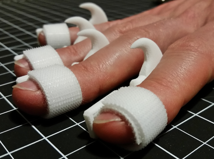 Wearable Cat Claw (Small, Single Claw) 3d printed