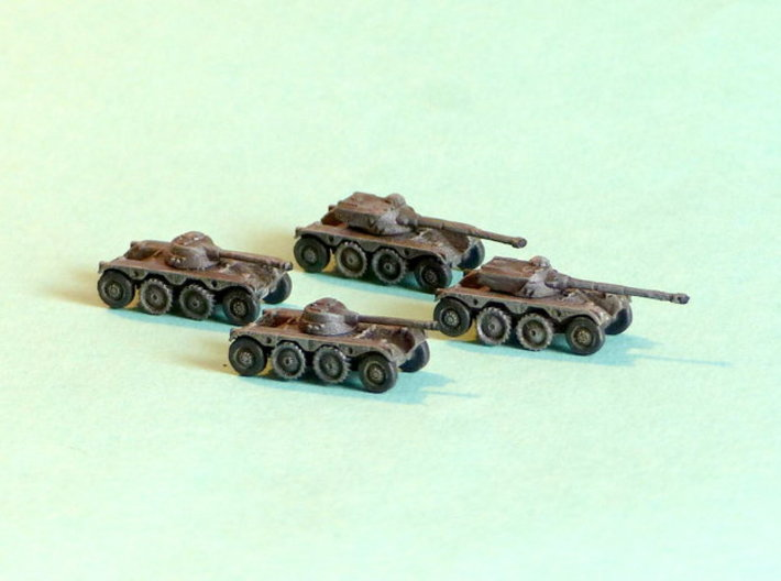 French EBR75 Heavy Scout Car 1/160 N-Scale 3d printed 1/285 Models