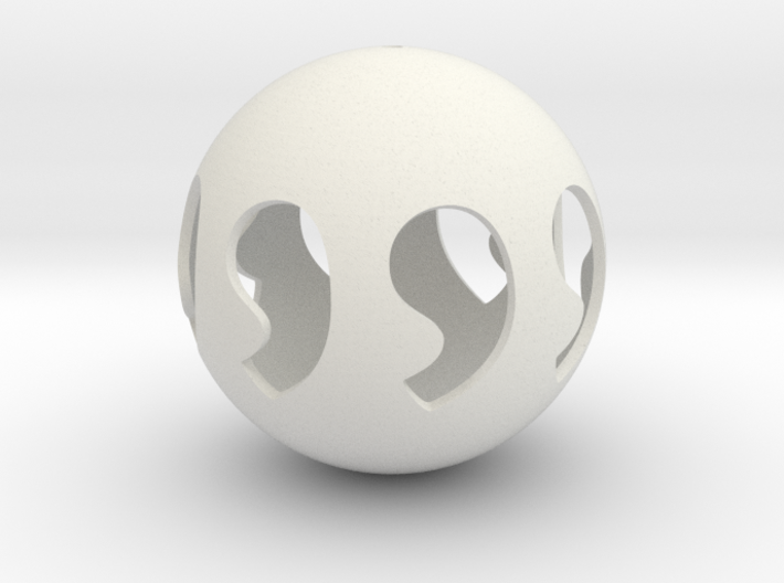 Comma symmetry sphere 88 3d printed