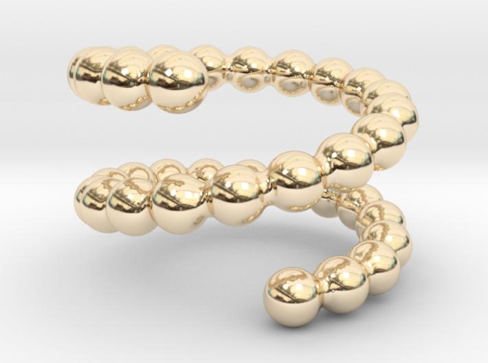 Spiral ring 16 3d printed