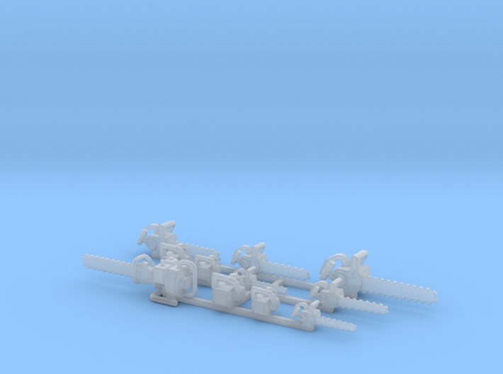 Chainsaws Group HO Scale 3d printed