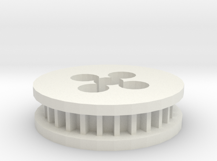 May10 2015 00 41 Quanum 3510 Timing Belt Gear Moun 3d printed