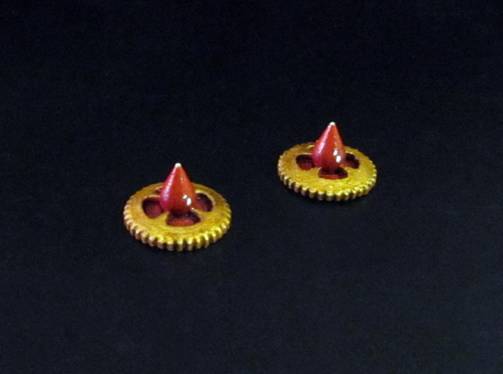 Claustro Wound Tokens (10/15 pcs) 3d printed White Strong Flexible, hand-painted.