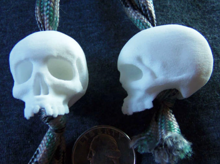 Mini Skull Keychain Charm 3d printed mug shots, white strong flex