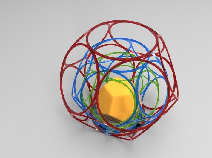 Regular Dodecahedron B 3d printed