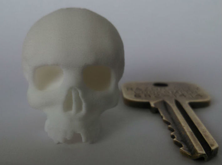 Mini Skull Keychain Charm 3d printed without para cord