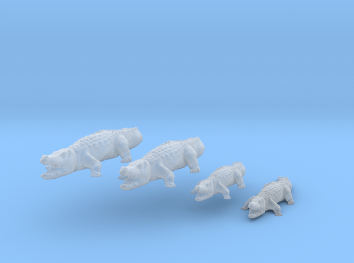 Krokodile - 1:220 (Z scale) 3d printed