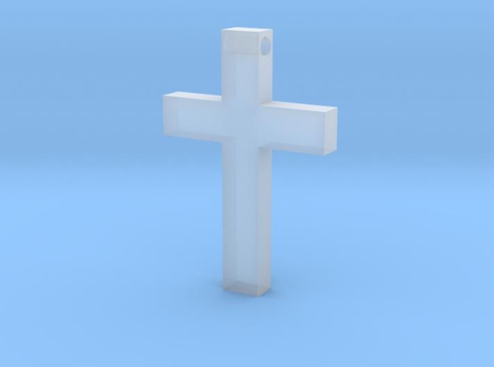 Latin Cross Pendant (Monroe Cross Variation) 3d printed
