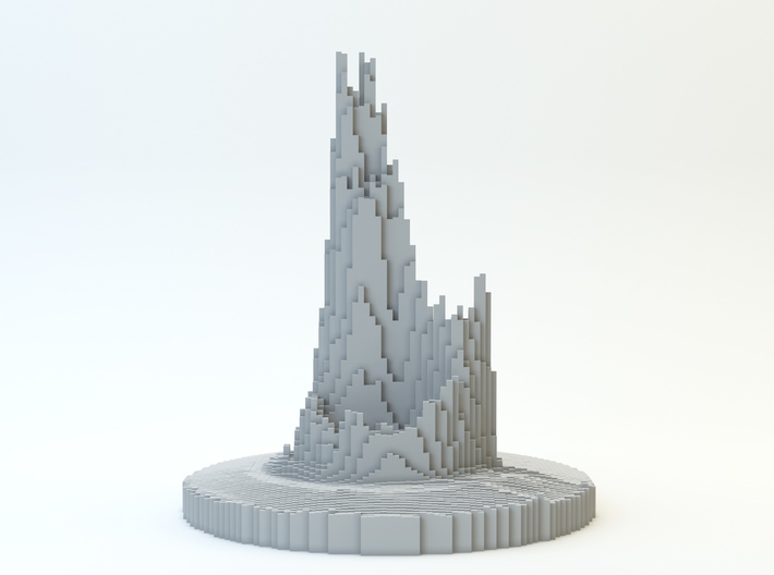 Abstract Castle 3d printed 3D render