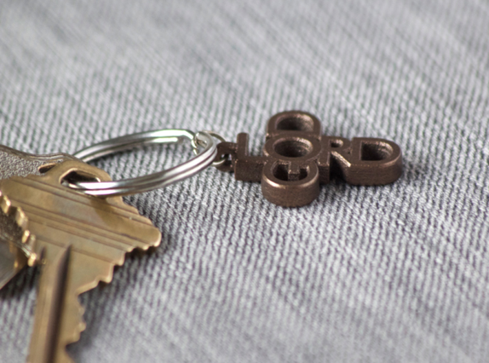 Lord God Pendant 3d printed Matte bronze steel pendant. Key ring and keys not included.