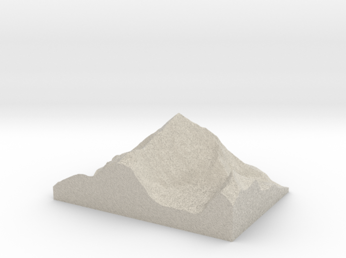 Model of Dent Blanche 3d printed