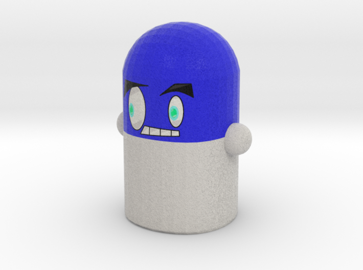 Blue Pillock 3d printed