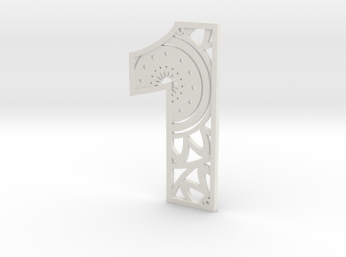House Number 1 3d printed