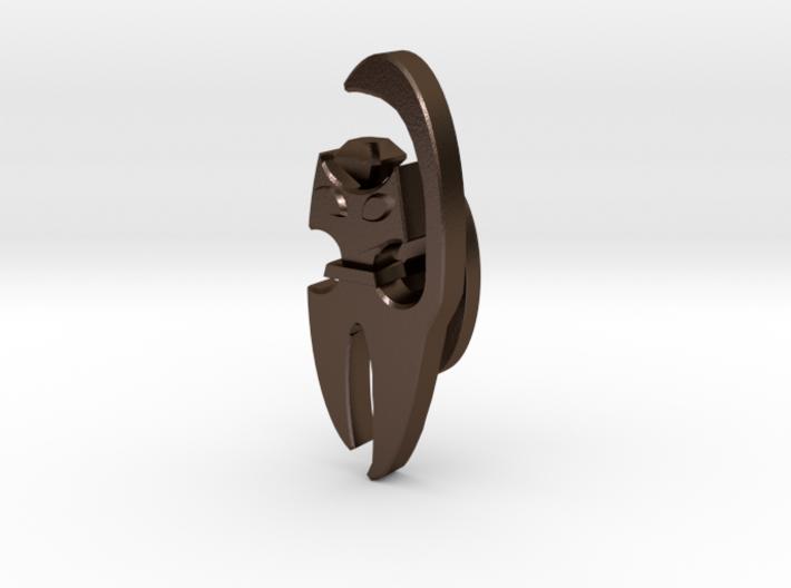 Cat Cufflink 3d printed