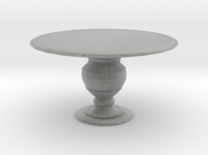 1:24 Half Scale Miniature Round Dining Table 3d printed