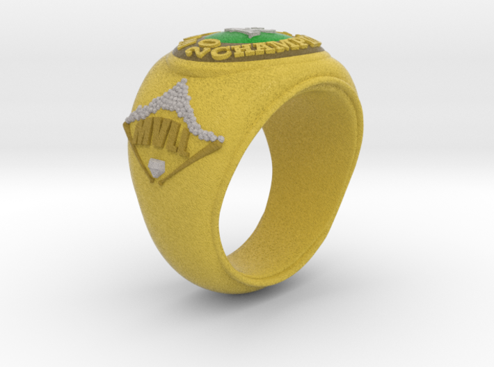 A's Tee Ball Ring Size 4.5 3d printed