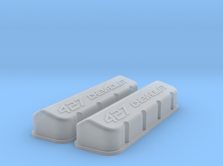 1/18 BBC 427 Logo Valve Covers 3d printed