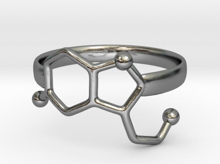 Serotonin Molecule Ring - Size 7 3d printed